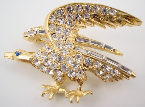 Rhinestone American Eagle Pin-Jewelry-Schoppy's Since 1921