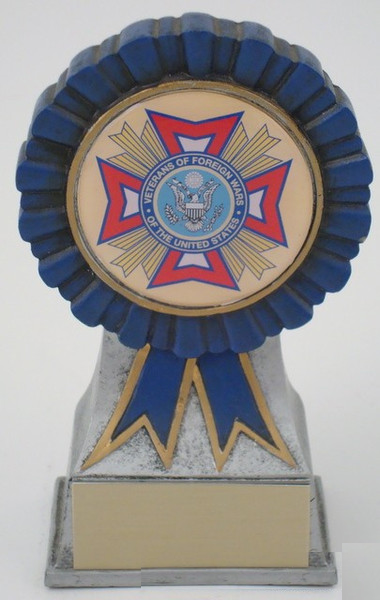 VFW Logo on Ribbon Resin
