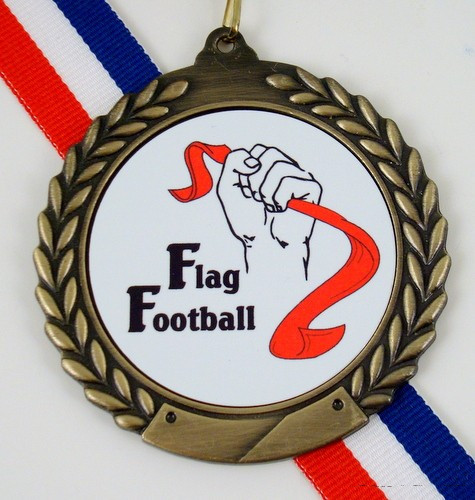 Flag Football Logo Medal