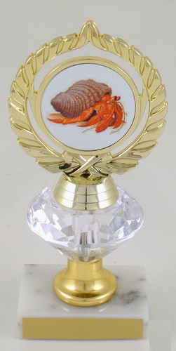 Hermit Crab Logo Diamond Riser Trophy Medium