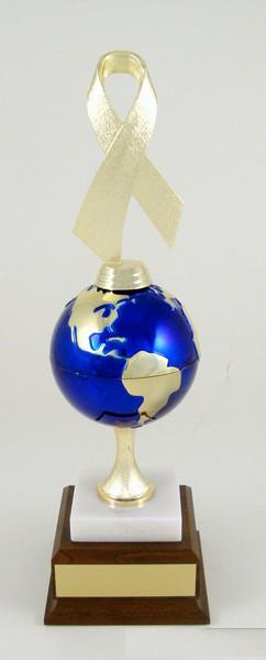 Global Awareness Award on Marble and Wood Base