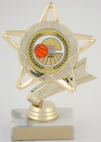 Star Mylar Holder Basketball Trophy on Marble Base-Trophies-Schoppy's Since 1921
