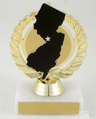 New Jersey State Cutout Trophy