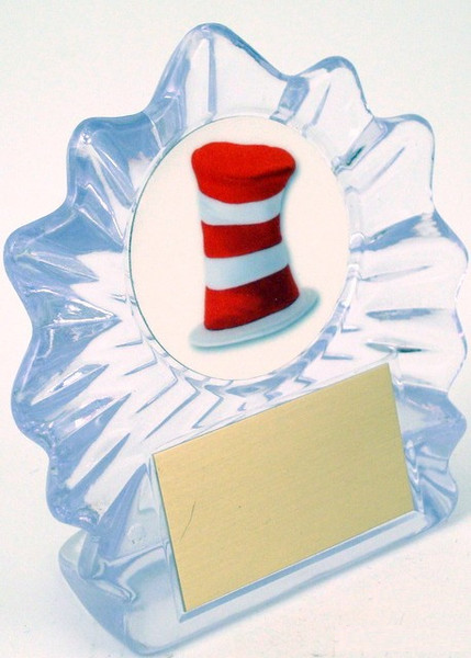 Hat Logo in Acrylic Trophy - Small