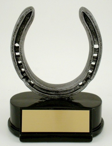Horseshoe Resin Trophy