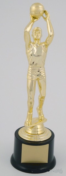 Male Basketball Trophy on Black Base-Trophies-Schoppy's Since 1921