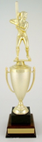 Softball Cup Trophy on Black Marble and Wood Base-Trophies-Schoppy's Since 1921