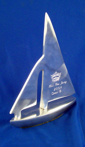 Handmade Metal Sailboat Award