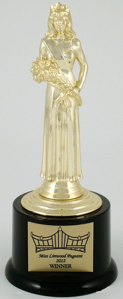 Pageant Round Base Trophy Large | Schoppy's Since 1921