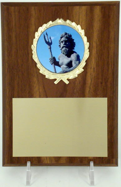 5x7 Plaque With King Neptune Logo