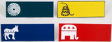 Political Themed Laser Name Badge-Name Tag-Schoppy's Since 1921