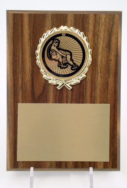 "Wrestling Plaque - 5"" x 7"" w/ Logo"