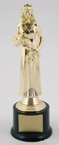 Beauty Queen Trophy on Round Base Large-Trophies-Schoppy's Since 1921
