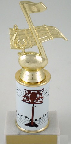 Music Stand Trophy with Custom Round Column-Trophies-Schoppy's Since 1921