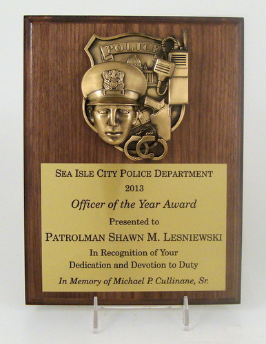 Police Cast Metal Plaque - 9 x 12-Plaque-Schoppy's Since 1921