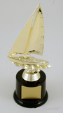 Sailboat Trophy On Marble - Large-Trophies-Schoppy's Since 1921