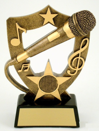 Lg. Microphone Resin Trophy