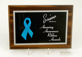 "Awareness Ribbon Plaque 5"" x 7""-Trophies-Schoppy's Since 1921"