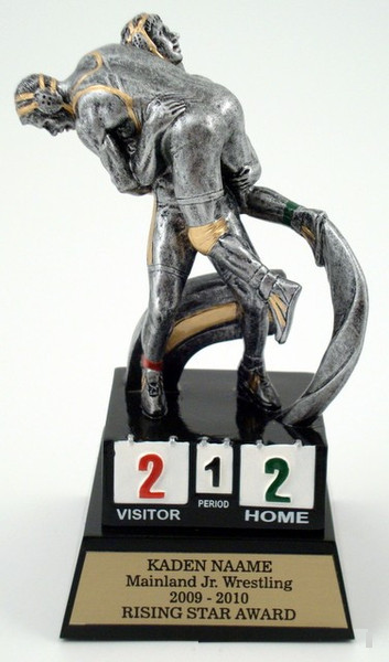 Motion Extreme Trophy - Wrestlers on Stand