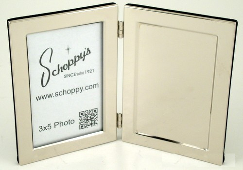 "Hinged Frame 3""x5"" with Engravable Plate-Frame-Schoppy's Since 1921"