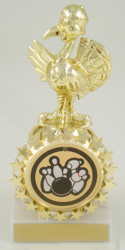 Turkey Bowler Trophy with Starred Logo Holder
