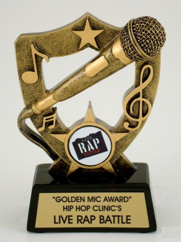 Microphone Resin Trophy