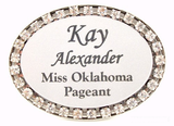Rhinestone Oval Badge-Name Tag-Schoppy's Since 1921