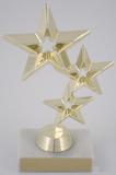 Triple Star on Marble Base-Trophies-Schoppy's Since 1921