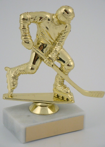 Inline Hockey Figure on Marble Base