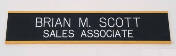 Wall Nameplate 2 x 10 Gold-Name Desk Block-Schoppy's Since 1921