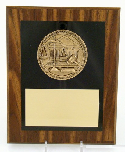 "Scales of Justice Plaque 8"" x 10"""