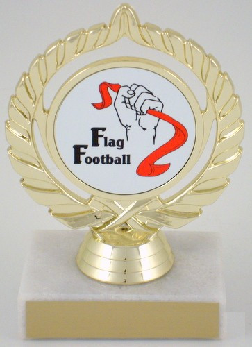 Flag Football Logo Trophy
