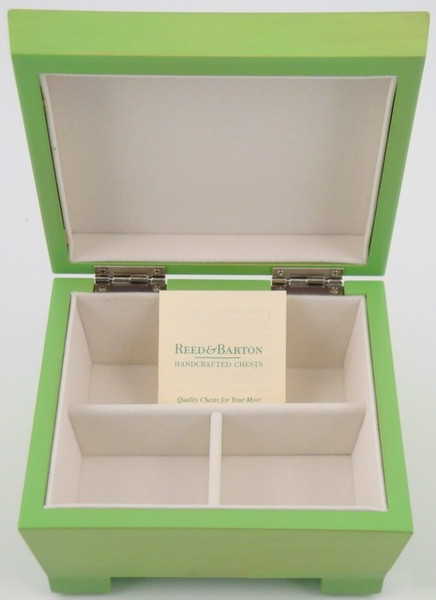 Reed & Barton Jewelry Chest - Lime Green