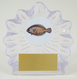 Fish Logo on Large Shell Acrylic Trophy-Trophies-Schoppy's Since 1921