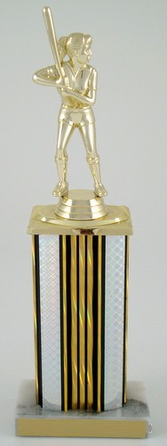 Wide Column Softball Trophy