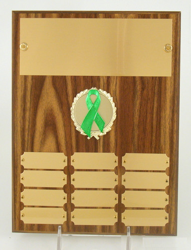 Awareness Ribbon Perpetual Plaque-Trophies-Schoppy's Since 1921