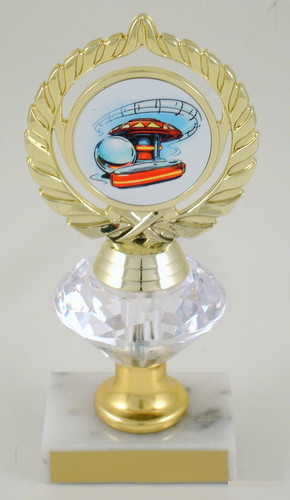 Pinball Logo Diamond Riser Trophy Medium