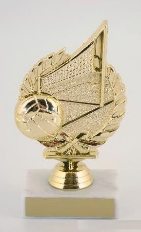 Volleyball Wreath Trophy on Marble Base-Trophies-Schoppy's Since 1921