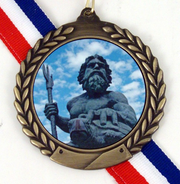 Gold Medal with King Neptune Logo