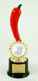 Chili Cooking Contest Starred Logo Trophy on Black Round Base-Trophies-Schoppy's Since 1921