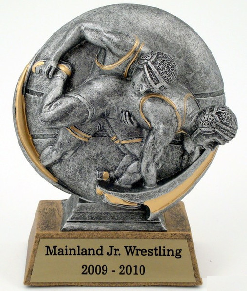 Motion Extreme Trophy - Male Wrestler-Trophies-Schoppy's Since 1921