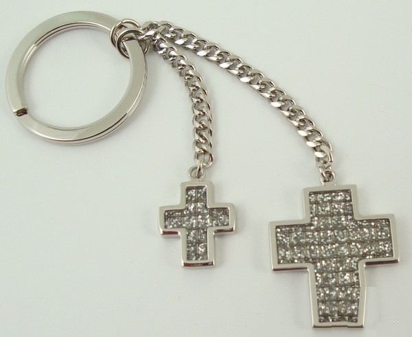 Glitter Galore Double Cross Key Chain-Key Chain-Schoppy's Since 1921