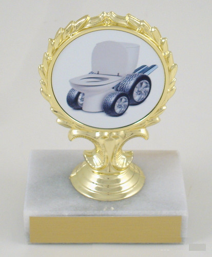 Toilet Bowl Racing Logo Trophy-Trophies-Schoppy's Since 1921