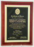 High Gloss Mahogany Frame Plaque-Plaque-Schoppy's Since 1921