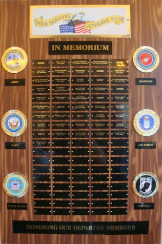 Veteran's Memorial Plaque