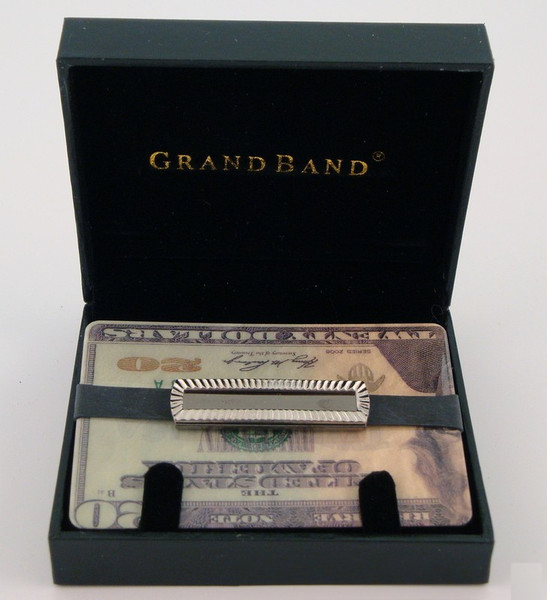 Grand Band Stainless Steel Fluted Frame-Money Clip-Schoppy's Since 1921