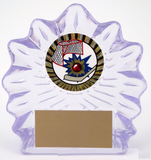 Large Sculpted Ice Acrylic with Street Hockey Mylar-Trophies-Schoppy's Since 1921