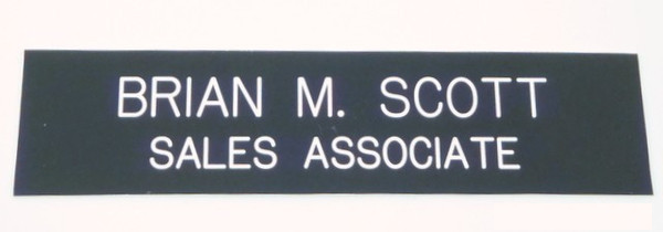 Nameplate 2 x 8-Name Desk Block-Schoppy's Since 1921