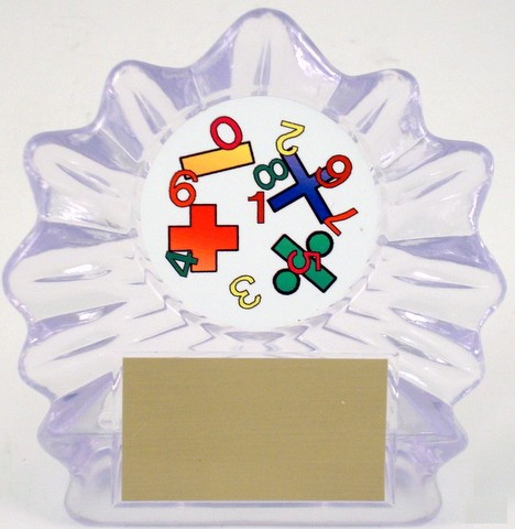 Math Logo in Acrylic Trophy - Small-Trophies-Schoppy's Since 1921
