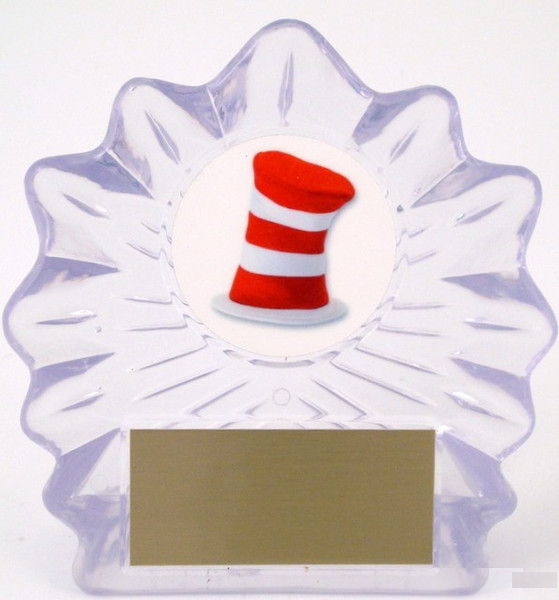 Hat Logo in Acrylic Trophy - Large